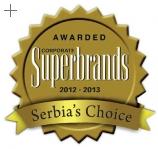 """Ekonomski institut dobitnik priznanja """"Superbrands Srbija"""" za 2012-2013. godinu"""